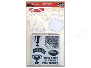 Sport Solution $6 - $18: Sizzix Framelits Die Set 6 PK w/Stamps Varsity Champs by 7 Gypsies