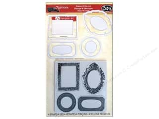 Sizzix Framelits Die Set 4 PK with Stamps Gypsy Frames