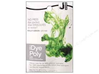 Jacquard Fabric Painting & Dying: Jacquard iDye Poly Fabrics 14gm Kelly Green