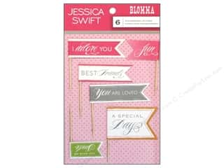 Anna Griffin Blend Die Cuts: Blend Sticker Blomma 3D Flag 6pc