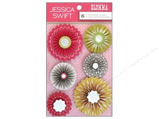 Blend Sticker Blomma 3D Rosette 6pc