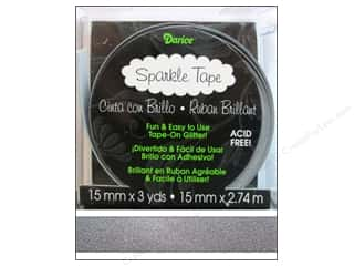 "Darice Tape Sparkle 5/8"" Grey 3yd"