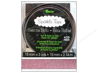 "Tapes Burgundy: Darice Tape Sparkle 5/8"" Burgundy 3yd"