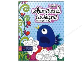 Fun Stitch Studio An Imprint of C & T Publishing Clearance Books: FunStitch Studio Whimsical Designs Coloring Book: Teaches You: Color Wheel, Design Practices - Applique, Creative Play Book
