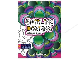 Coloring Book Swirling Designs Book