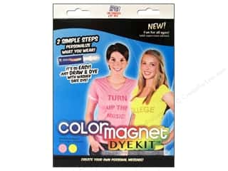 Jacquard Crafting Kits: Jacquard Color Magnet Dye Kit Pink/Yellow
