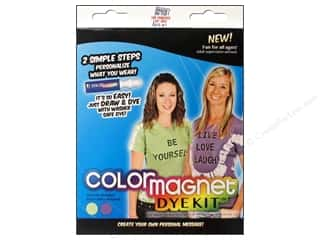 Stencils Projects & Kits: Jacquard Color Magnet Dye Kit Green/Purple