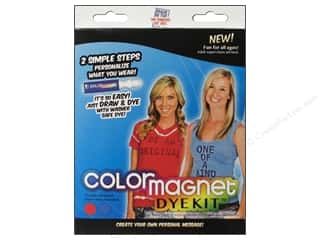 Jacquard Crafting Kits: Jacquard Color Magnet Dye Kit Red/Turquoise