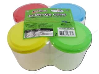 Multi's Embellishment  Yarn Clay & Modeling: Multicraft Organizer Storage Cups with Lid 2 1/4 in. 4 pc.