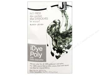 Fabric Painting & Dying Black: Jacquard iDye Poly Fabrics 14gm Black