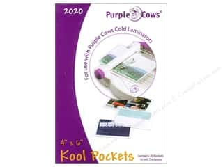 Purple Cows School: Purple Cows Laminating Kool Pockets 4 x 6 in. 20 pc.