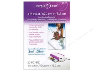 Tools $4 - $6: Purple Cows Laminating Hot Pockets 4 x 6 in. 20 pc.