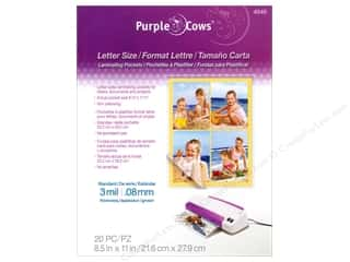 Purple Cows School: Purple Cows Laminating Hot Pockets 8 1/2 x 11 in. 20 pc.