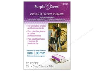 Purple Cows School: Purple Cows Laminating Hot Pockets 2 x 3 in. 20 pc.