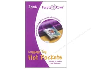 Purple Cows School: Purple Cows Laminating Hot Pockets Luggage Tag 20 pc.