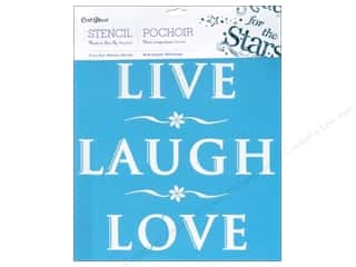 "Stenciling 12 x 12: Multicraft Craft Decor Stencil Wall 12""x 12"" Live Love Laugh"