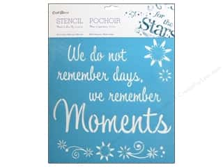 "Stenciling 12 x 12: Multicraft Craft Decor Stencil Wall 12""x 12"" We Remember Moments"