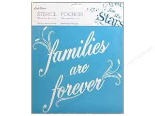 "Stencils Family: Multicraft Craft Decor Stencil Wall 12""x 12"" Families Are Forever"