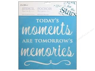 "Craft & Hobbies Stencils: Multicraft Craft Decor Stencil Wall 12""x 12"" Today's Moments"