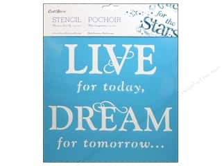 "Yarn Captions: Multicraft Craft Decor Stencil Wall 12""x 12"" Live For Today"