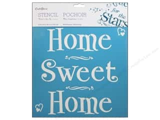 Multicraft Stencil Wall 12x12 Home Sweet Home