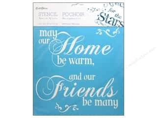 "Multi's Embellishment  Yarn: Multicraft Craft Decor Stencil Wall 12""x 12"" May Our Home"