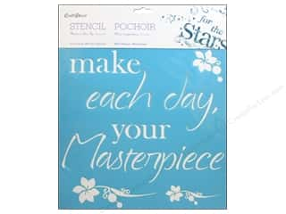 "Yarn Captions: Multicraft Craft Decor Stencil Wall 12""x 12"" Make Each Day"