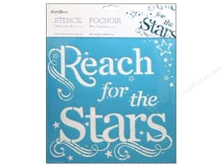 "Stenciling 12 x 12: Multicraft Craft Decor Stencil Wall 12""x 12"" Reach For The Stars"