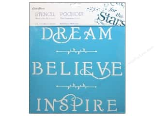 "Multicraft Stencil Wall 12""x 12"" Dream, Believe, Inspire"
