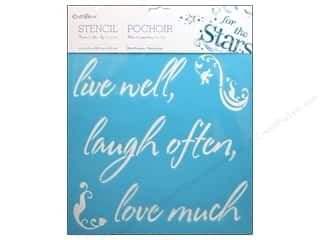 "Multicraft Stencil Wall 12""x 12"" Live Well, Laugh Often"