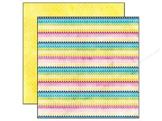 Echo Park Paper Company: Echo Park 12 x 12 in. Paper Here And Now Collection Rainbow Chevron (25 sheets)