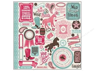 Carta Bella Borders: Carta Bella Sticker 12 x 12 in. Giddy Up Girl Element (15 sets)