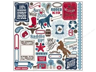 Carta Bella Animals: Carta Bella Sticker 12 x 12 in. Giddy Up Boy Element (15 sets)