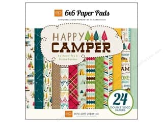 Echo Park Paper 6 x 6 in. Paper Pad Cover Happy Camper