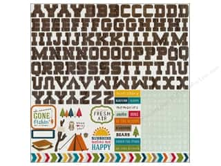 Echo Park Sticker 12 x 12 in. Happy Camper Alphabet (15 piece)