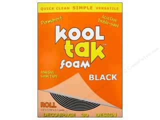 Kool Tac Kool Tak Ultra Clear Tape: Kool Tak 3D Foam 1/2 x 1/16 in. x 2.1 yd. Black