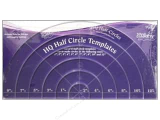 Elisa's Backporch Design Quilting Templates / Sewing Templates: Handi Quilter Half-Circle Templates