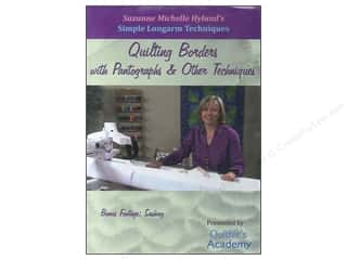 DVD Video Clearance Books: Handi Quilter Simple Longarm Techniques: #3 Quilting Borders with Pantographs & Other Techniques DVD with Suzanne Michelle Hyland