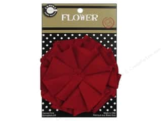 Canvas Corp Canvas Flower 4 in. Red