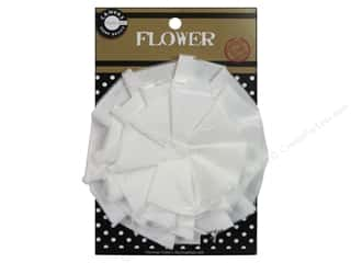 Canvas Corp Flower Canvas 4 in. White