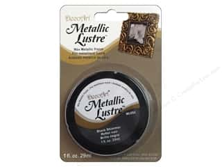 Beeswax Basic Components: DecoArt Metallic Lustre Black Shimmer