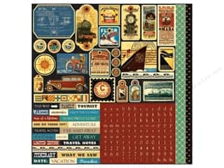 Echo Park Sticker 12 x 12 in. Transatlantique Element (15 piece)
