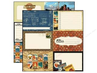 Echo Park 12 x 12 in. Paper Transatlantique Blueprint (15 piece)