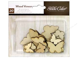 Studio Calico Wood Veneer Classic 2 Butterflies