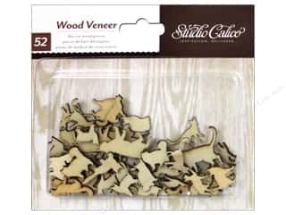 Studio Calico Wood Veneer Here & There Cats