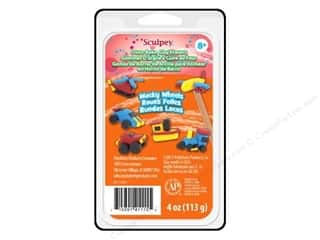 Sculpey Eraser Clay Set Wacky Wheels 4pc