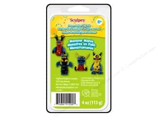 Clay & Modeling Projects & Kits: Sculpey Clay Kit Monster Mania 4pc