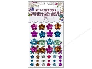 2013 Crafties - Best Adhesive: Self-Adhesive Rhinestones Flowers & Round Vibrant 52 pc.