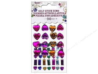 2013 Crafties - Best Adhesive: Self-Adhesive Rhinestones Hearts & Bars Vibrant 51 pc.
