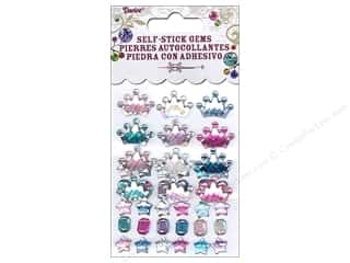 Beads $4 - $5: Self-Adhesive Rhinestones by Darice Tiara, Gem & Star Periwinkle 42 pc.